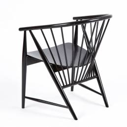 sonna rosen Scandinavian black wooden chair denmark