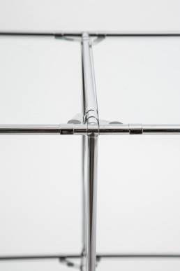 poul cadovius roomdivider glass chrome-plated denmark