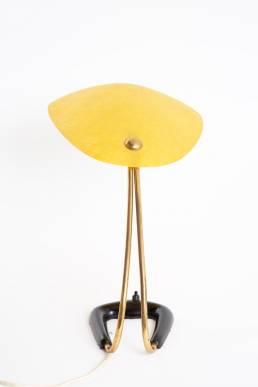 Aubock table lamp yellow fiberglass