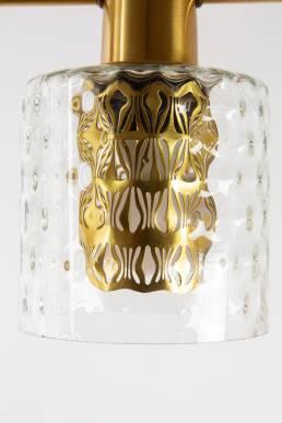 Hans Agne jakobsson brass scandinavian triple hanglamp