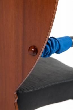 Dalami chair Borek Sipek leather, fabric, plywood and steel