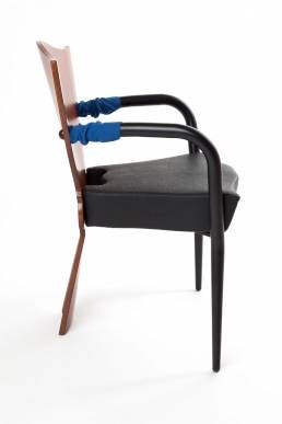 Dalami chair Borek Sipek leather, fabric, plywood and steel