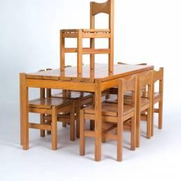 Tapiovaara Hongisto Laukaan Puu Oy table set