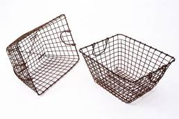 French oyster baskets metal