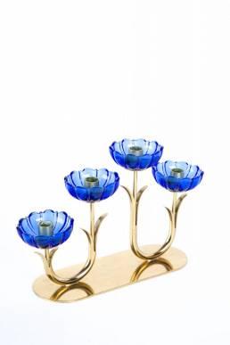Gunnar Ander blue art glass Ystad