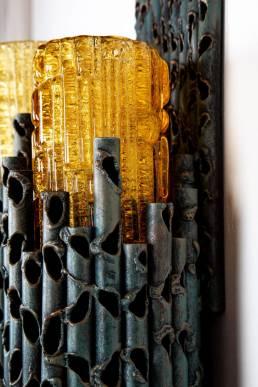 marcello fantoni brutalist wall lamp