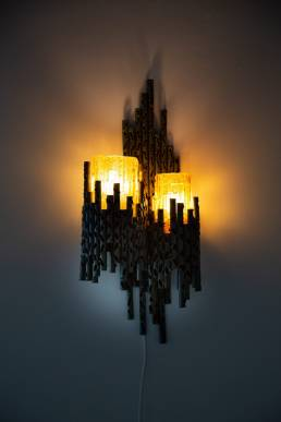 marcello fantoni brutalist wall lamp