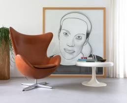 Fritz Hansen egg Arne Jacobsen