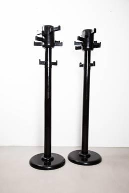 black coat rack plastic