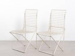 8023 wire steel children chairs white